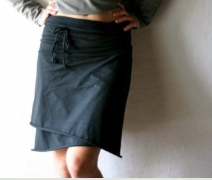 black wrap skirt review