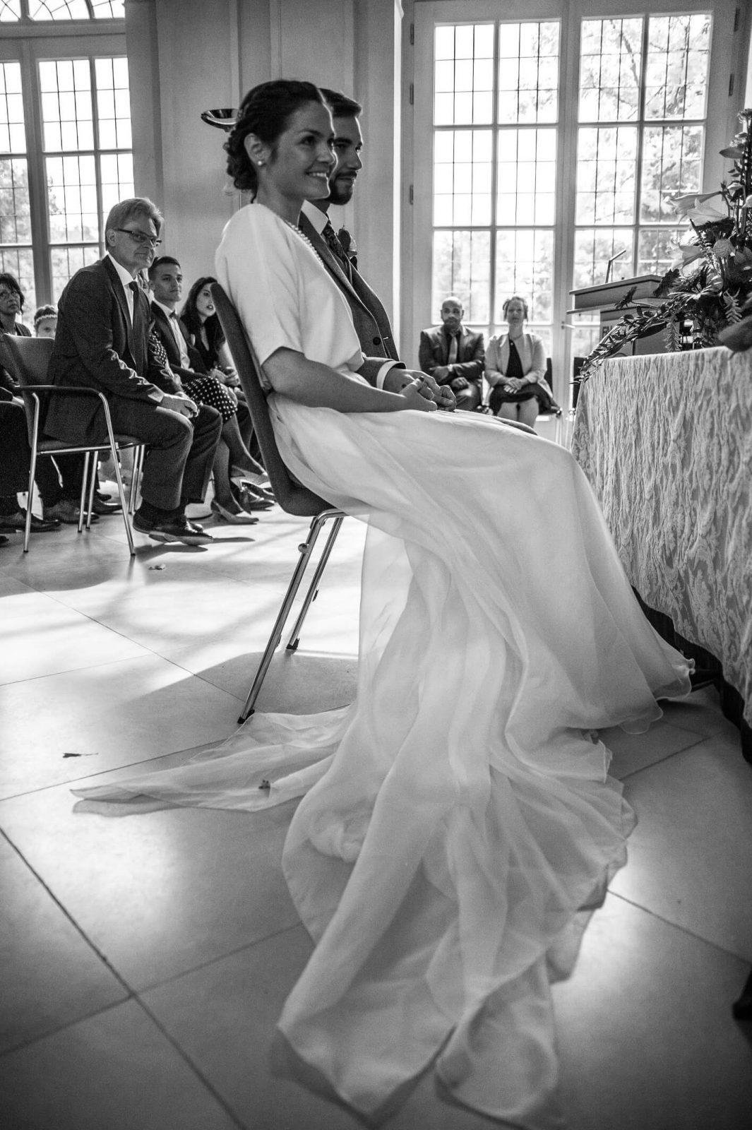 Long flowing organza wedding skirt