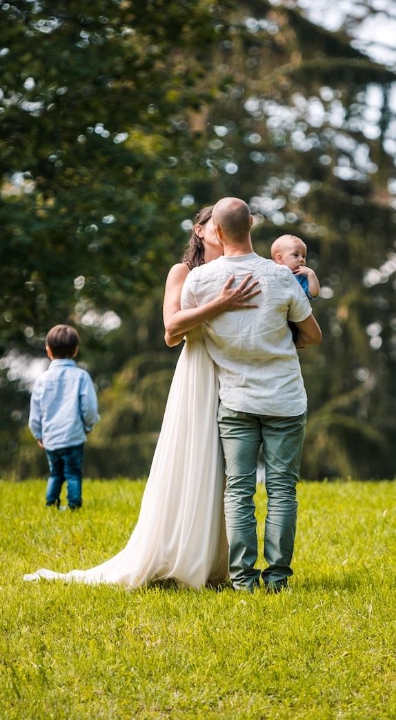 rustic silk and hemp wedding dress