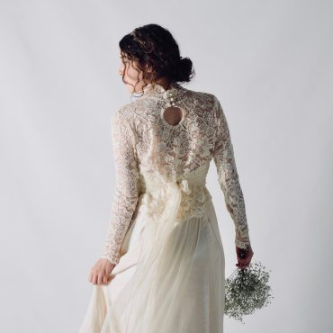 Long sleeved Victorian style wedding top