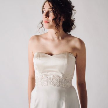 Silk Satin bridal corset bustier