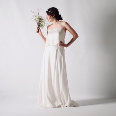 Sensual minimalist wedding dress separates