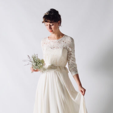 Acacia~ Lace Bridal blouse with buttons
